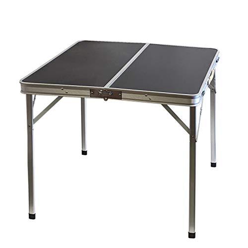 Aluminium Klapptisch \'Domburg\' Campingtisch 80x80cm Schwarz Gartentisch Beistelltisch Falttisch Picknicktisch Alutisch faltbar