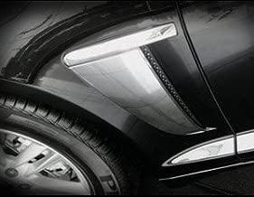 Mina Gallery Chrome Fender Vent Finisher Set for Jaguar XF & XFR 2012 2013 2014 2015
