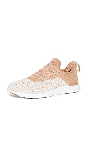 APL: Athletic Propulsion Labs Women's Techloom Tracer Sneakers, Caramel/Warm Silk/White, 7.5 Medium US