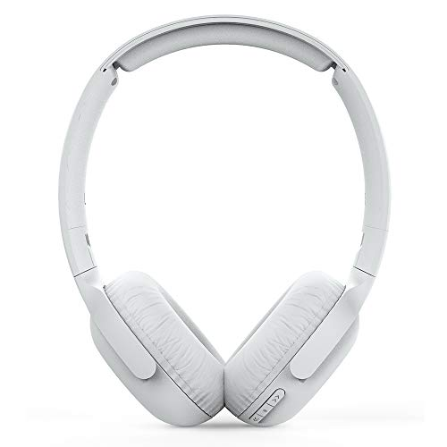 Philips On Ear Headphones UH202WT/00 Bluetooth On Ears (Wireless, 15 hour battery, Soft ear pads, Microphone, Foldable) White