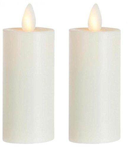 sompex 2er Set Flame LED Teelicht XL 39010 Elfenbein, fernbedienbar