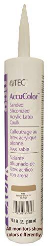 TEC TA650-21-982 AccuColor Siliconized Sanded Acrylic Caulk, 10.5 oz Cartridge