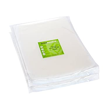 Quart PLUS Vacuum Seal Bags - 100 NEW SIZE 10  x 13  for Food Saver and Seal A Meal Vac Sealer BPA Free Commercial Grade Sous Vide Vaccume Safe, Heavy-Duty Universal Pre-cut Storage Bag Avid Armor