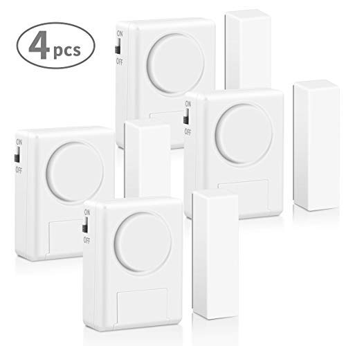 LingsFire Magnetically Triggered Alarms for Doors or Windows Home Security Window/Door Alarm Kit...