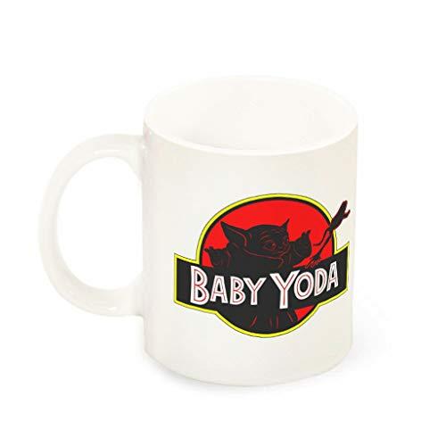 YxueSond Baby yoda Park Bedrukte Keramische Koffiemok Beker Thanksgiving Gift