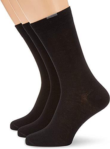 Nur Der Herren Socken 485525/Passt Perfekt 3er Pack, Gr. 43-46, schwarz (schwarz 940)