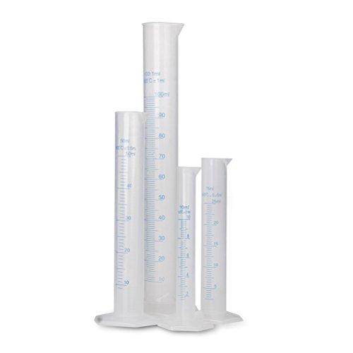 winomo mesure Verre Plastique graduierte Roue 10 ml/25 Ml/50 Ml/100 Ml 4Pcs