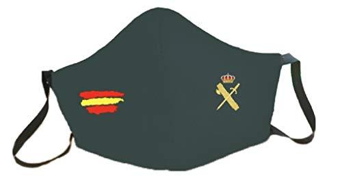 Mascarillas bandera España homologadas GUARDIA CIVIL reutilizable 3 capas de proteccion