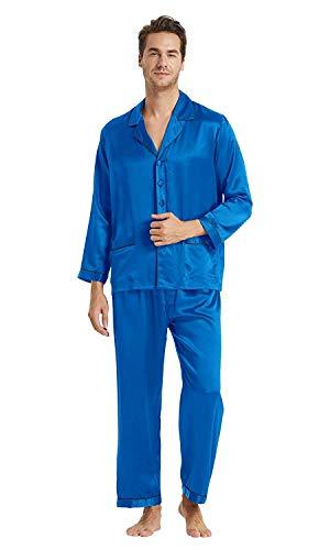 LilySilk Men's Silk Long Pajamas Set