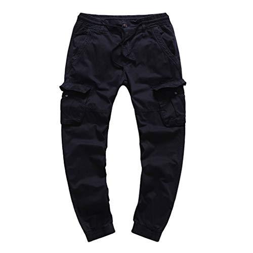 VRTUR Pantalon Cargo Slim Homme Casual Été Pantalons Jogging Multi Poche Cordon de Serrage Baggy Style Pants