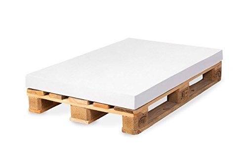 TexDeko Palettenkissen, Palettensofa, Palettenpolster, Matratzenkissen (120x80x12cm) Schaumstoff für Europalette, ohne Bezug