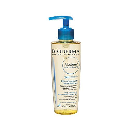 BIODERMA - ATODERM Huile de douche200ml | 24h d'hydratation – Confort immédiat |Peaux sensibles très sèches, irritées à atopiques