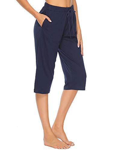 Vlazom 100% Algodón Pantalones de Pijama Mujer Verano, Partes de Abajo de Pijamas para...