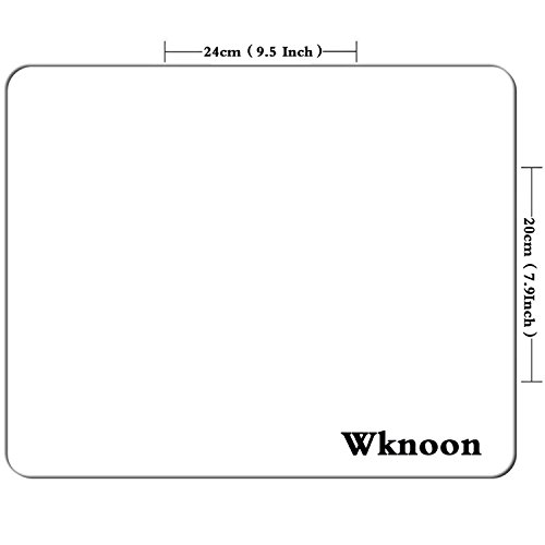 Wknoon White Marble Round Mouse Pad Mat Photo #2