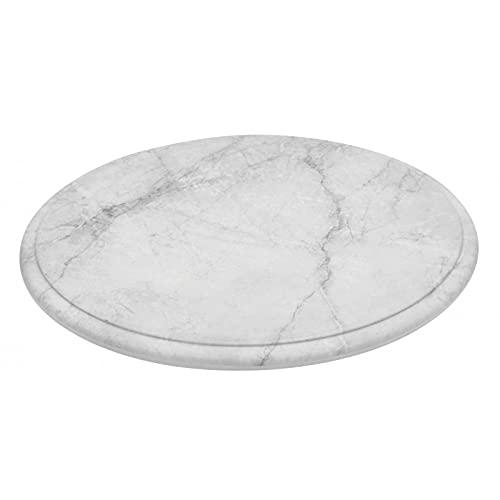 Bandeja redonda blanca de melamina, imitación mármol Ø285 x 14 mm – L2G – melamina