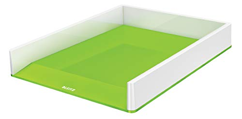 Leitz Vaschetta portacorrispondenza, Formato A4, Bianco/Verde, Gamma WOW, 53611054
