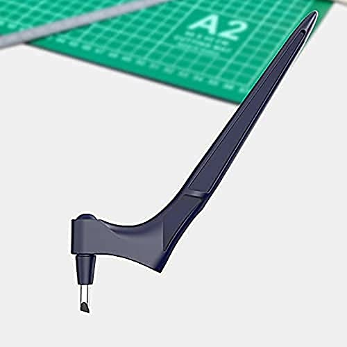 Herramientas de corte de artesanía para manualidades de papel con triángulo regla 360 grados cuchilla giratoria Cuchillo de artesanía de acero inoxidable Cuchillo de artesanía Cuchillo aficionado