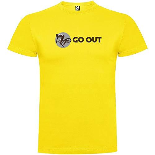 Camiseta Ciclismo Go out Manga Corta Hombre Amarillo 3XL