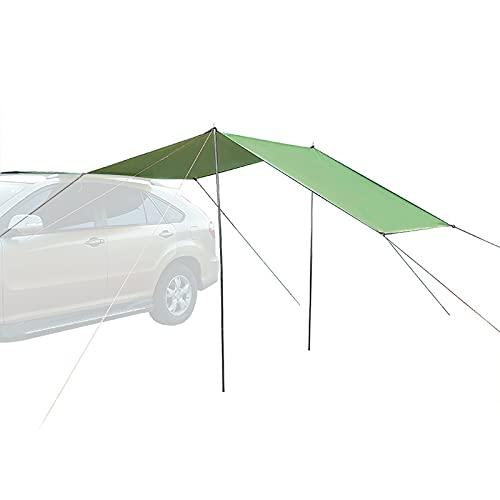 Aibabely Carpa de coche, toldo auto tienda techo para SUV coche camping al aire libre viaje playa sol sombra