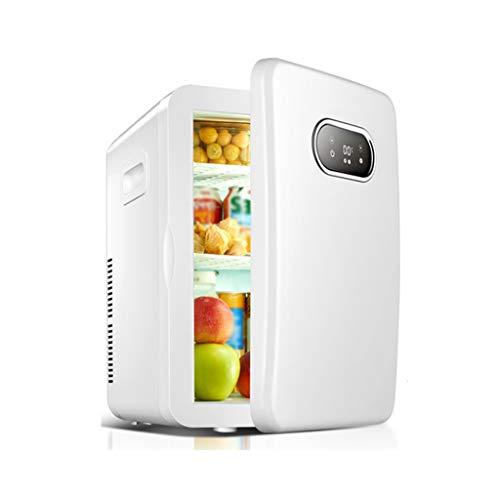 Frigoríficos mini Pequeño Alquiler de la Oficina del Dormitorio del Doble Uso Retro del refrigerador del hogar del refrigerador con el pequeño congelador refrigerado 36 * 30 * 42cm (Color : White)