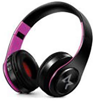 All Star Bluetooth hoofdtelefoon, draadloos, 4.0, over-ear hoofdtelefoon met 10 uur looptijd, draadloze bluetooth-hoofdtelefoon met ingebouwde microfoon, hoofdtelefoon voor tv/mobiele telefoons/pc/tablets, ergonomisch gevormde en zachte kinriem (zwart roze)