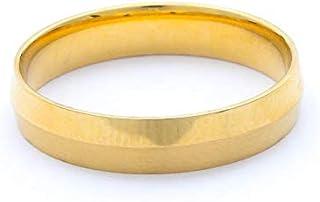 Breuning 18K Yellow Satin & Shiny Finish Wedding Ring [BR7138]