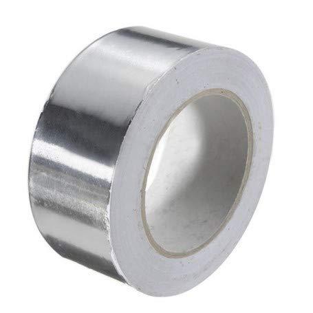 Nastro Alluminio Adesivo Argento Riflettente Impermeabile Alte temperature Riparazioni Rinforzato Montaggio per Riparazione Sigillo Conduttura e Tetto (48mm x 50m)