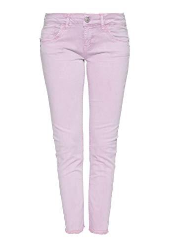ATT Jeans Damen 5 Pocket Jeans   Damenhose   Slim Fit   Leichte Waschung   Offene Saumkanten Leoni