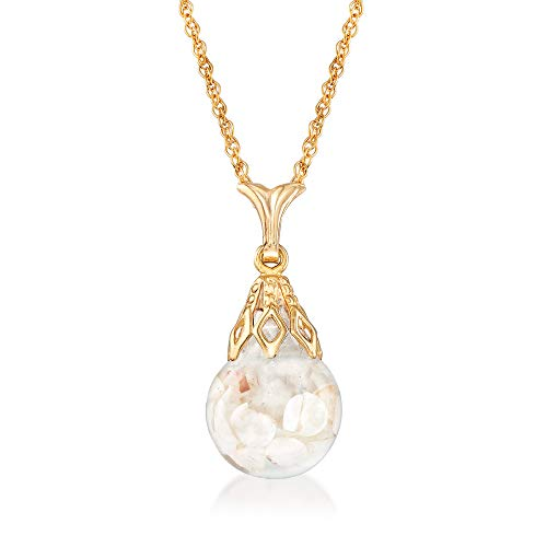 Ross-Simons Floating Opal Pendant Necklace in 14kt Yellow Gold. 18 inches