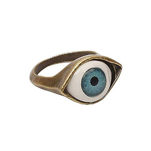 Hithop Punk Style Retro Exaggeration Blue Eye Ring