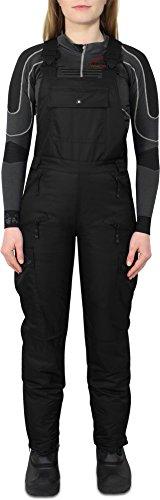 normani Damen Softshell Ski und Snowboardhose mit Hosenträgern Farbe Schwarz Größe S
