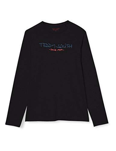 Teddy Smith 11014748D T-Shirt Homme, Noir, Large