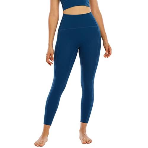 QTJY Pantalones de Yoga Suaves y sexys para Mujer, Leggings absorbentes de Sudor, Cintura Alta, Flexiones de Cadera, Pantalones de Entrenamiento para Celulitis, I M