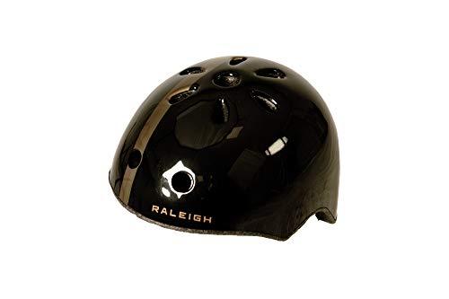 Raleigh Unisex, Jugendliche Propoganda Fahrradhelm, schwarz/Silber, 50-54 cm