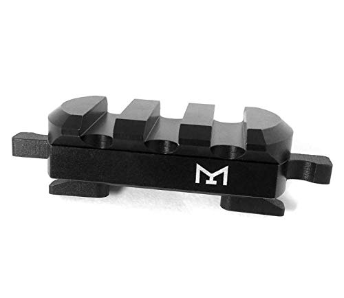 MLOK 3 Rail Picatinny Quick Release Detach Tool-Free Adapter for Rifle Airsoft Tactical