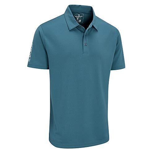 Stuburt Golf SBTS453 Sport Tech Golf-Spitze T-Shirt Polo-Shirt, Pfau, Medium