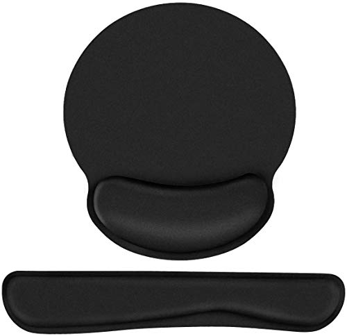 SZYAN Keyboard Wrist Rest Pad and Mouse Wrist Rest Pad, Ergonomic Arm Rest for Keyboard Mouse Set Superfine Fiber Memory Foam Support for Computer, Laptop, Office, Home, Pain Relief