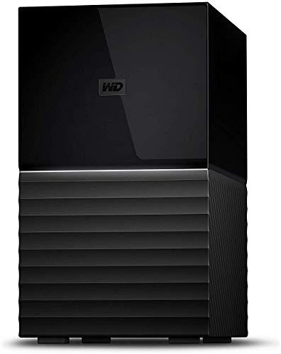 WD デスクトップHDD 28TB USB3.1 Gen 1 暗号化 RAID 0,1 バックアップ My Book Duo WD Red 採用 / WDBFBE0280JBK-JESN 3年保証