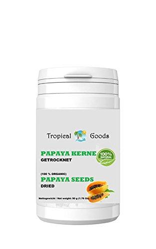 50 g žāvētu papaijas sēklu, papaijas piparu
