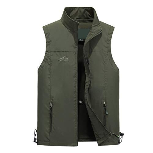YULAN Vesten Katoen Vest Mannen Outdoor Plus Velvet Vest Multi-pocket Jas Middelbare leeftijd Herenvest Katoen Stof/Weefsel, Multi-pocket Ontwerp