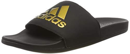 adidas Adilette Comfort, Sandalia Hombre, Core Black Gold Met Core Black, 46 EU