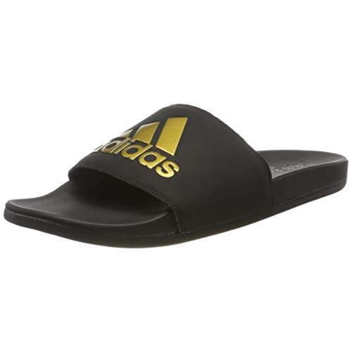 adidas Adilette Comfort, Scarpe da Ginnastica Uomo, Core Black/Gold Met./Core Black, 39 EU