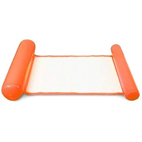 JS-mlq PVC Acqua Amaca Poltrona Gonfiabile Galleggiante Nuoto Materasso Pieghevole Materasso Gonfiabile Air Poltrona Letto Nuoto Sedile (Colore : Orange)