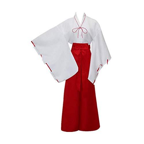 CHANGL Inuyasha Kikyo Kikyou Disfraz de Cosplay Costume Kimono japonés Trajes de Vestir Tradición Ropa Carnaval de Halloween
