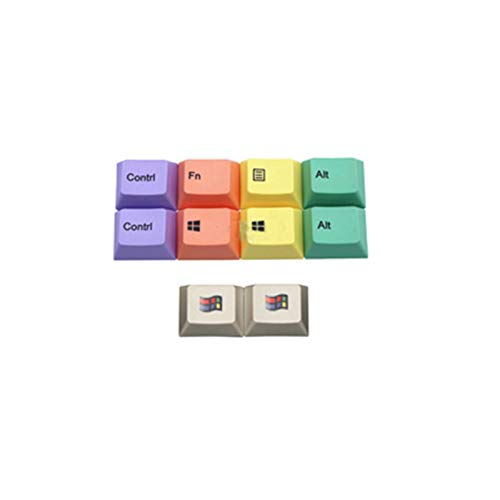ScottDecor Tastaturplatte 108 Tasten 10 Tasten/Set PBT-Farbstoff-Sublimationsschlüsselkappen-Kappe Mechanische Tastatur Keycaps für R1 Höhe 1.25U (Color : 10 Keys)