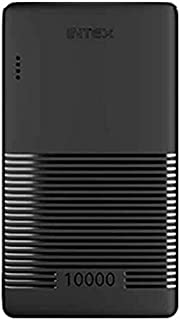 Intex Power Neo 10K Poly Power Bank with 10000mAh Battery and Dual Port & 4 LED Lights (Glaze Black)