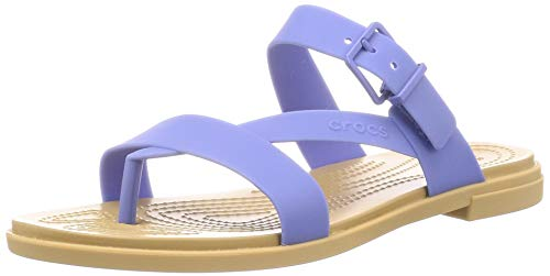 crocs Crocs Tulum Toe Post Sandal Women Lapis/Tan Croslite