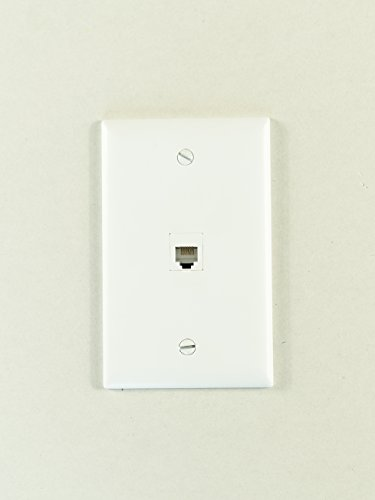Legrand - On-Q WP3401WH Single Gang, 1 Port Keystone Wall Plate, White
