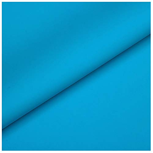 Material de Piel Sintética Tapicería Tela de Piel Sintética Impermeable Cuero Mate Sofá Fundas para Asientos de Coche Material de Zapato Hecho a Mano DIY (Lago Azul)(Size:1.4x20m)