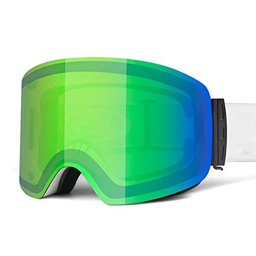 HWZHX Skibril voor volwassenen, groot frame, cilinder, dubbele anti-condens, zandbescherming, oogslijpen, winddicht, outdoor, ski- en bergbeklimmen, skibril